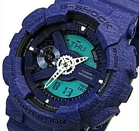 CASIO/G-SHOCK【カシオ/Gショック】Heathered Color Series/ヘザード・カラー・シリーズ メンズ腕時計 ネイビー 海外モデル【並行輸入品】 GA-110HT-2A