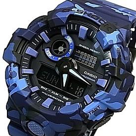 CASIO/G-SHOCK【カシオ/Gショック】アナデジ メンズ腕時計 ネイビーカモフラージュ 海外モデル【並行輸入品】GA-700CM-2A