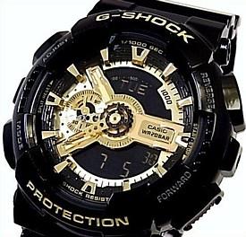 CASIO/G-SHOCK【カシオ/Gショック】Black Gold Series/ブラック ゴールドシリーズ アナデジ メンズ腕時計 海外モデル【並行輸入品】 GA-110GB-1A