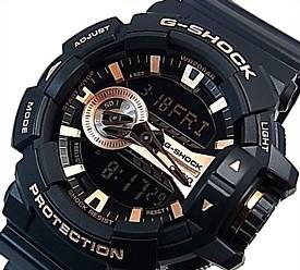 CASIO/G-SHOCK【カシオ/Gショック】アナデジ メンズ腕時計 ブラック/ローズゴールド 海外モデル【並行輸入品】 GA-400GB-1A4