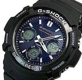 CASIO/G-SHOCK【カシオ/Gショック】ソーラー電波腕時計 メンズ ブラック/ネイビー 海外モデル【並行輸入品】 AWG-M100SB-2A