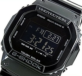 CASIO/G-SHOCK【カシオ/Gショック】Grossy Black Series/グロッシー・ブラックシリーズ ソーラー電波腕時計 マルチバンド6(国内正規品)GW-M5610BB-1JF