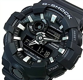 CASIO/G-SHOCK【カシオ/Gショック】アナデジモデル メンズ腕時計 ブラック 海外モデル【並行輸入品】 GA-700-1B
