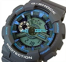 CASIO/G-SHOCK【カシオ/Gショック】アナデジ メンズ腕時計 グレー/ブルー 海外モデル【並行輸入品】 GA-110TS-8A2