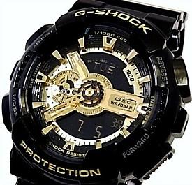 CASIO/G-SHOCK【カシオ/Gショック】Black Gold Series/ブラック ゴールドシリーズ アナデジ メンズ腕時計(国内正規品)GA-110GB-1AJF