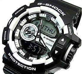 CASIO/G-SHOCK/Hyper Colors【カシオ/Gショック/ハイパーカラーズ】アナデジ メンズ腕時計 ブラック/ホワイト(国内正規品)GA-400-1AJF