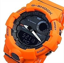 CASIO/G-SHOCK【カシオ/Gショック】G-SQUAD/ジー・スクワット ブルートゥース モバイルリンクモデル メンズ腕時計 オレンジ/ブラック(国内正規品)GBA-800-4AJF