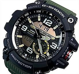 CASIO/G-SHOCK【カシオ/Gショック】MUDMASTER/マッドマスター マッドレジスト&ツインセンサー搭載 メンズ腕時計 モスグリーン(国内正規品)GG-1000-1A3JF