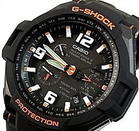 CASIO/G-SHOCK【カシオ/Gショック】SKY COCKPIT/スカイコックピット メンズ ソーラー電波腕時計 ブラック/オレンジ(国内正規品)GW-4000-1AJF