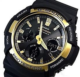 CASIO/G-SHOCK【カシオ/Gショック】ソーラー電波腕時計 アナデジモデル ブラック/ゴールド 海外モデル【並行輸入品】GAW-100G-1A
