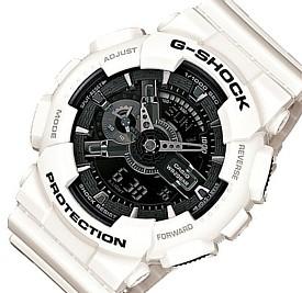 CASIO/G-SHOCK【カシオ/Gショック】White and Black Series/ホワイト&ブラックシリーズ メンズ腕時計 海外モデル【並行輸入品】 GA-110GW-7A
