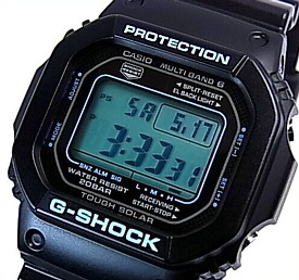 CASIO/G-SHOCK【カシオ/Gショック】ソーラー電波腕時計 マルチバンド6 ブラック×ブルー シリーズ GW-M5610BA-1JF(国内正規品)