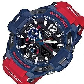 CASIO/G-SHOCK【カシオ/Gショック】GRAVITYMASTER/グラビティマスター メンズ腕時計 ツインセンサー搭載 レッド/ネイビー 海外モデル【並行輸入品】 GA-1100-2A