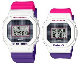 CASIO/G-SHOCK/Baby-G【カシオ/Gショック/ベビーG】ペアウォッチ 腕時計 パープル・ピンク・ホワイト 海外モデル【並行輸入品】DW-5600THB-7/BGD-560THB-7