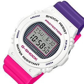 CASIO/G-SHOCK【カシオ/Gショック】メンズ腕時計 パープル・ピンク・ホワイト(国内正規品)DW-5700THB-7JF