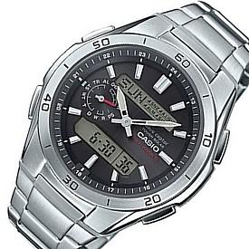 CASIO/Wave Ceptor【カシオ/ウェーブセプター】メンズ ソーラー電波腕時計 アナデジ アラームクロノグラフ ガンメタ文字盤 メタルベルト(国内正規品)WVA-M650D-1AJF