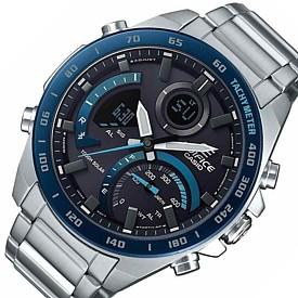 CASIO/EDIFICE【カシオ/エディフィス】ソーラー腕時計 アネデジ クロノグラフ メンズ スマートフォンリンク 海外モデル【並行輸入品】ECB-900DB-1B