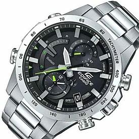 CASIO/EDIFICE【カシオ/エディフィス】ソーラー クロノグラフ モバイルリンク メンズ腕時計 メタルベルト 海外モデル【並行輸入品】 EQB-900D-1A