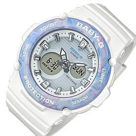 CASIO/Baby-G【カシオ/ベビーG】レディース腕時計 ホワイト/ブルー(国内正規品)BGA-270M-7AJF