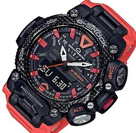 CASIO/G-SHOCK【カシオ/Gショック】GRAVITYMASTER/グラビティマスター メンズ腕時計 スマートフォンリンク ブラック/オレンジ(国内正規品)GR-B200-1A9JF
