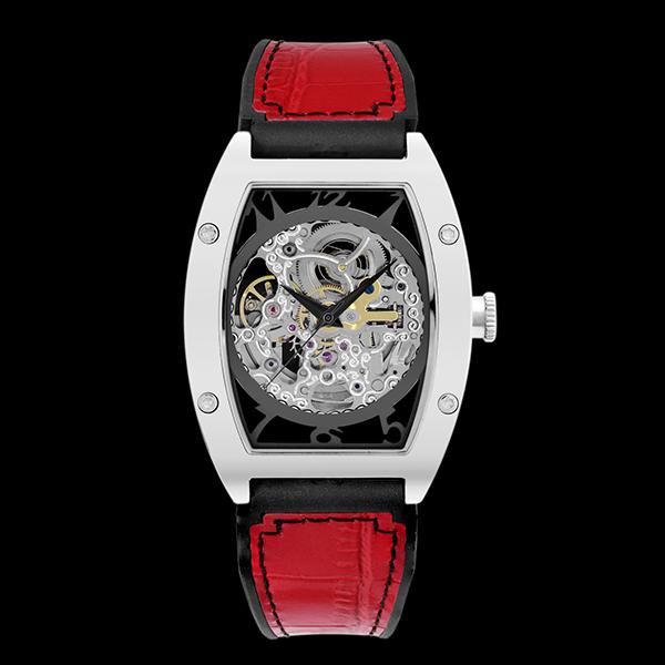 アルカフトゥーラ ARCA FUTURA 自動巻き メンズ 腕時計 スケルトン 978CRD レッド