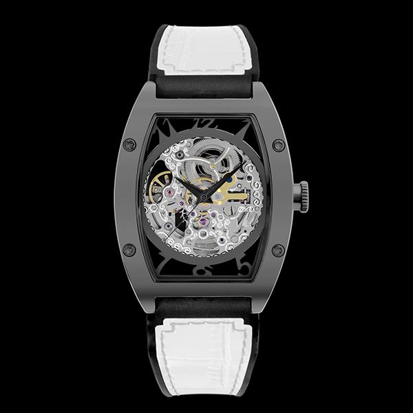 アルカフトゥーラ ARCA FUTURA 自動巻き メンズ 腕時計 スケルトン 978IWH ホワイト