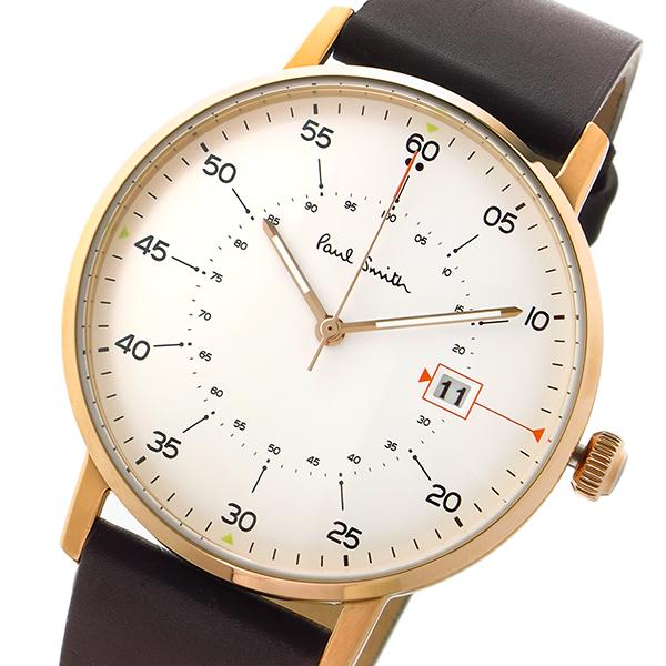 ポールスミス Paul Smith ゲージ GAUGE クオーツ メンズ 腕時計 P10077 ホワイト
