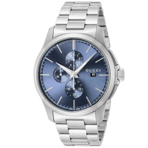 グッチ GUCCI Gタイムレス クロノ クオーツ メンズ 腕時計 YA126273 ブルー