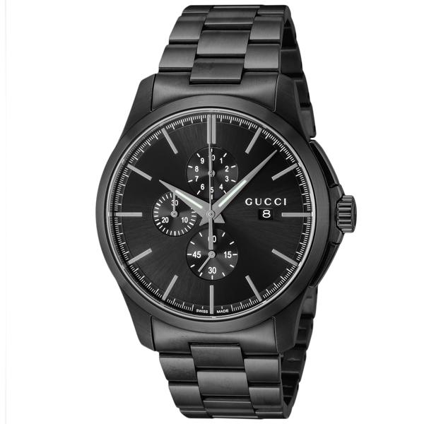 グッチ GUCCI Gタイムレス クロノ クオーツ メンズ 腕時計 YA126274 ブラック
