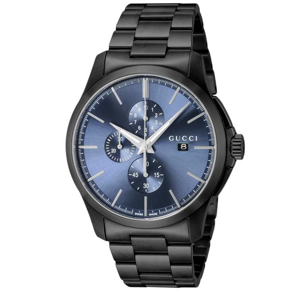 dd41170f6271 グッチ GUCCI Gタイムレス クロノ クオーツ メンズ 腕時計 YA126275 ブルー