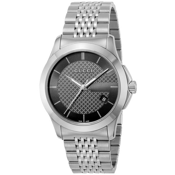 11/1までエントリーで全品P20倍 グッチ GUCCI Gタイムレス クオーツ メンズ 腕時計 YA126480 ブラック