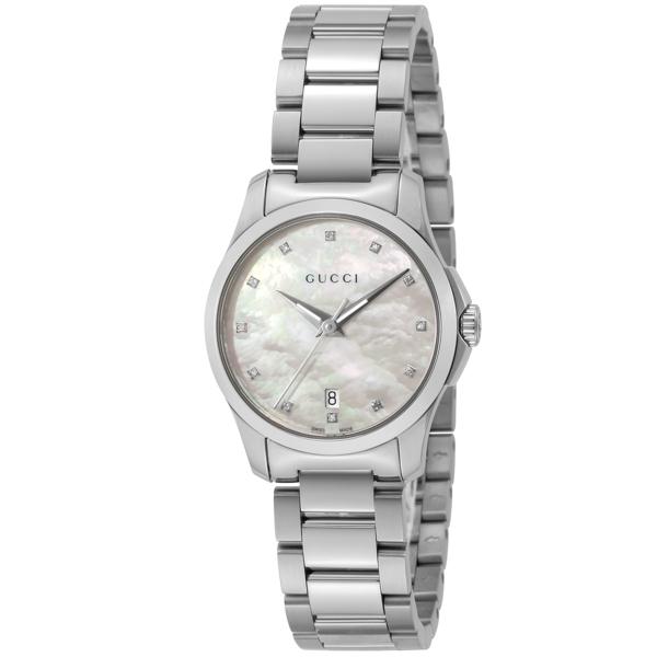 グッチ GUCCI Gタイムレス クオーツ レディース 腕時計 YA126542 ホワイトシェル
