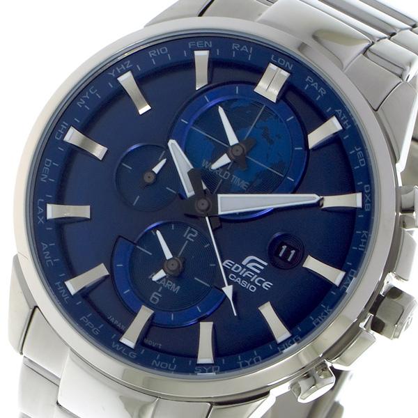 カシオ CASIO エディフィス EDIFICE クロノ クォーツ メンズ 腕時計 ETD310D2A ブルー
