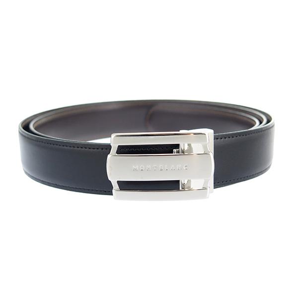 モンブラン MONTBLANC メンズ ベルト 103431 シルバー ブラック/ブラウン ブラック