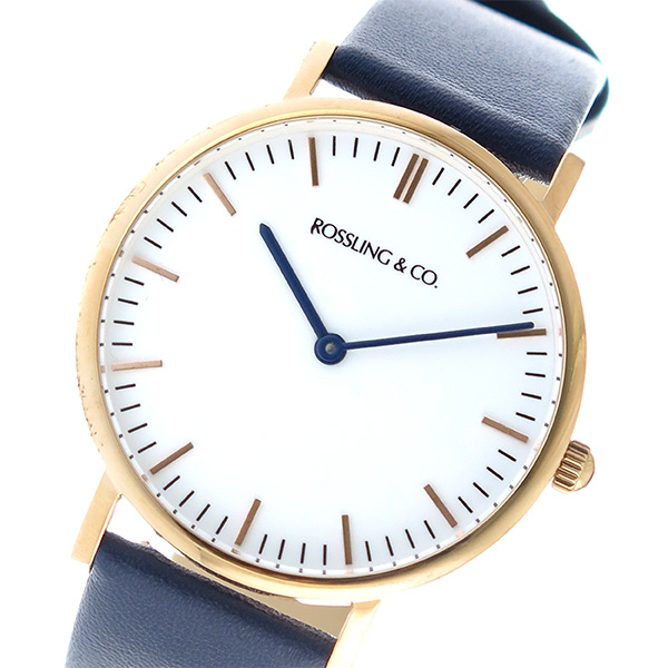 ROSSLING ロスリング CLASSIC 36MM Navy クオーツ ユニセックス 腕時計 RO-005-011 ネイビー/ホワイト