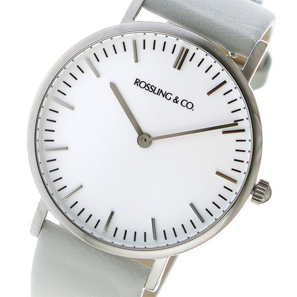 ROSSLING ロスリング CLASSIC 36MM light gray クオーツ ユニセックス 腕時計 RO-005-013 ライトグレー/ホワイト