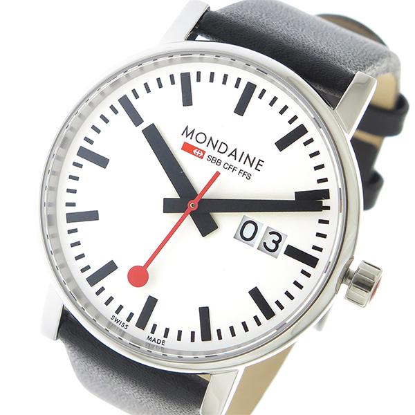 モンディーン MONDAINE エヴォ2 クオーツ メンズ 腕時計 MSE.40210.LB ホワイト