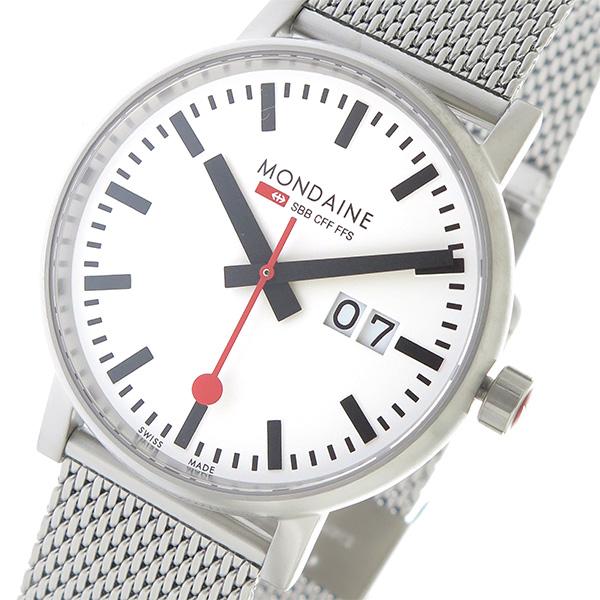モンディーン MONDAINE エヴォ2 クオーツ メンズ 腕時計 MSE.40210.SM ホワイト