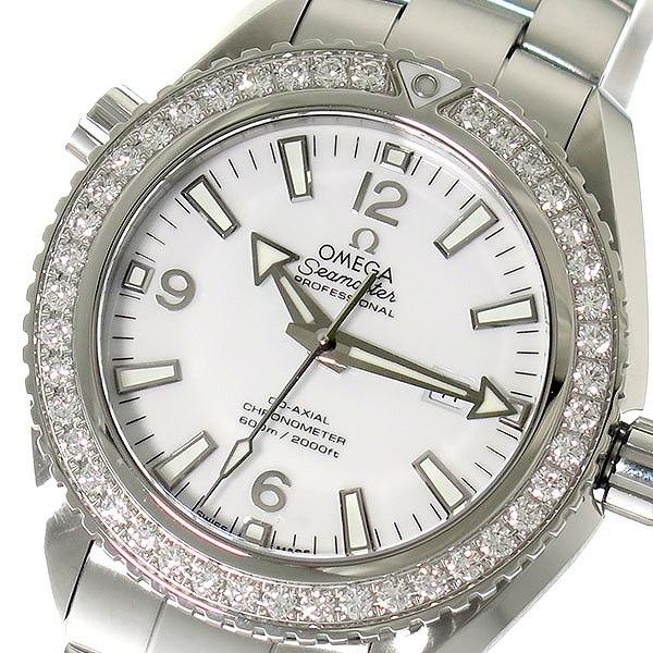 オメガ OMEGA シーマスター 自動巻き レディース 腕時計 232.15.38.20.04.001 ホワイト/シルバー