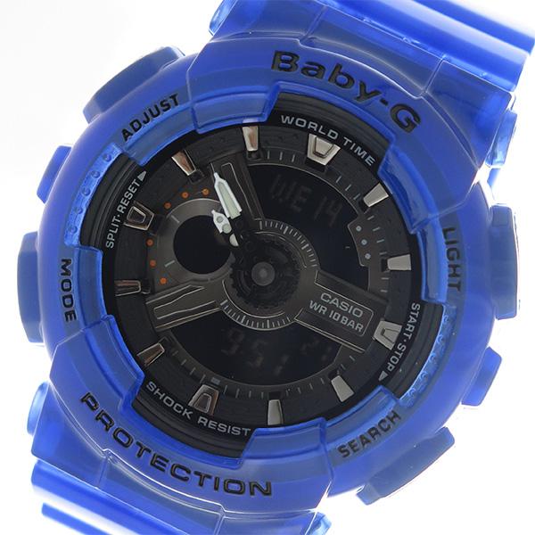 カシオ CASIO ベビーG Baby-G レディース 腕時計 BA-110CR-2AJF ブラック/ブルー ブラック