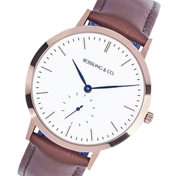 MODERN WESTHILL 腕時計 ロスリング ブラウン/ホワイト RO-003-001 36MM レディース ROSSLING