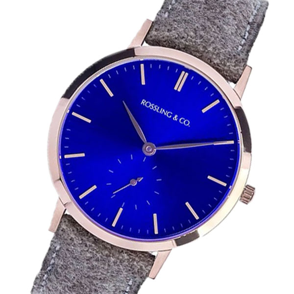 ROSSLING ロスリング MODERN 36MM Aberdeen クオーツ ユニセックス 腕時計 RO-003-006 ライトブラウン/ブルー
