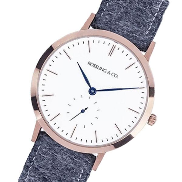 ROSSLING ロスリング MODERN 36MM Glencoe クオーツ ユニセックス 腕時計 RO-003-013 グレー/ホワイト