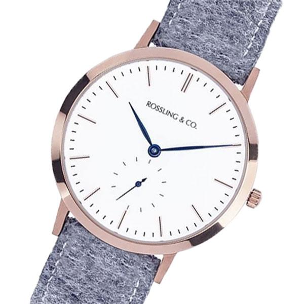 ROSSLING ロスリング MODERN 36MM Stirling クオーツ ユニセックス 腕時計 RO-003-014 ライトグレー/ホワイト
