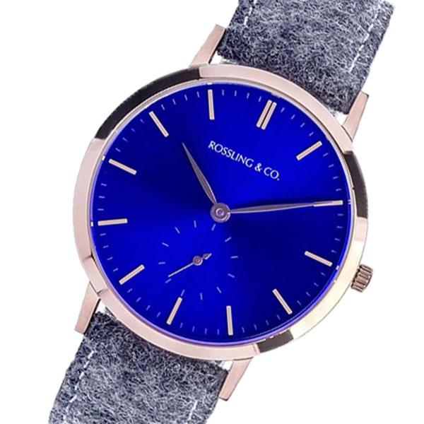ROSSLING ロスリング MODERN 36MM STIRLING レディース 腕時計 RO-003-016 ライトグレー/ブルー ブルー