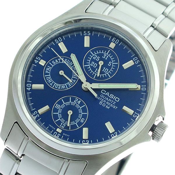 【希少逆輸入モデル】 カシオ CASIO クオーツ メンズ 腕時計 MTP-1246D-2A ブルー/シルバー