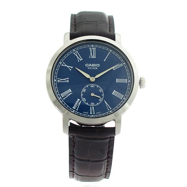 【希少逆輸入モデル】 カシオ CASIO クオーツ メンズ 腕時計 MTP-E150L-2B ブルー/ダークブラウン