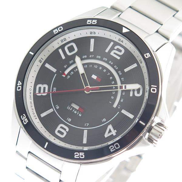 トミーヒルフィガー TOMMY HILFIGER 腕時計 メンズ 1791394 ブラック シルバー ブラック