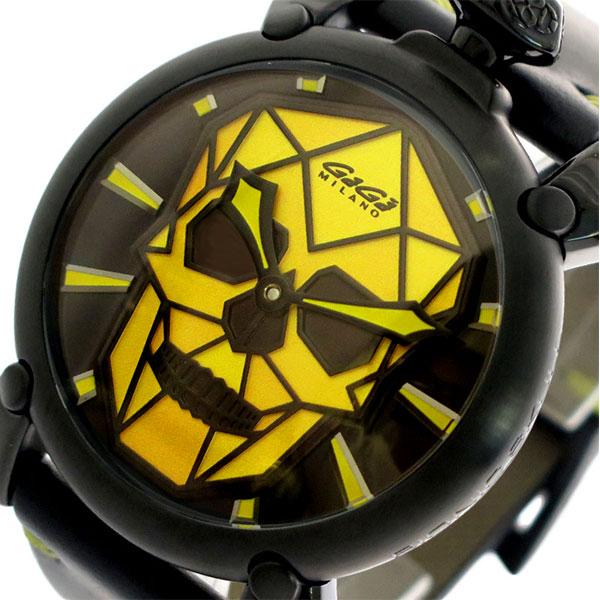 ガガミラノ GAGA MILANO 腕時計 メンズ 506201S ブラック イエロー ブラック