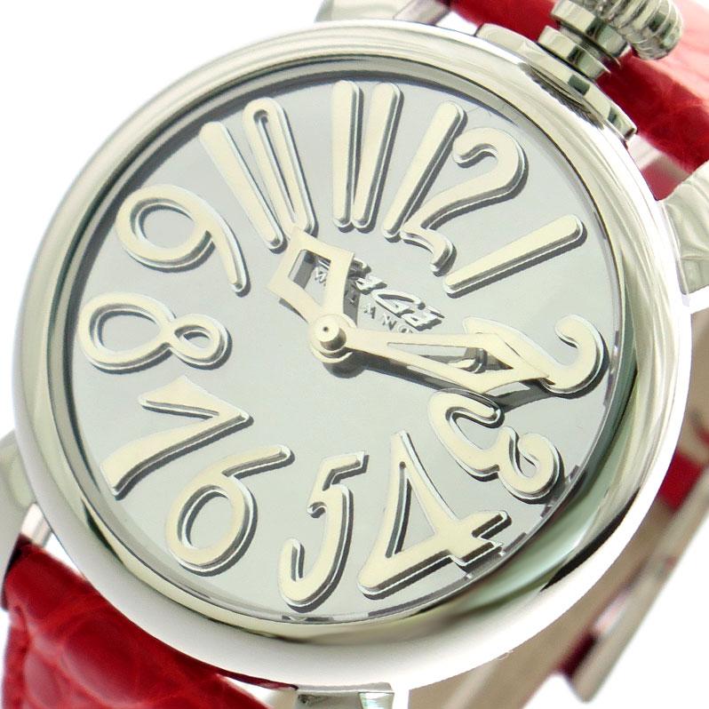 ガガミラノ GAGA MILANO 腕時計 メンズ レディース 5220MIR01-RED シルバー レッド
